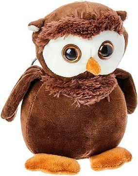 Imagem de Coruja de Pelúcia Chaveiro - Fofy Toys