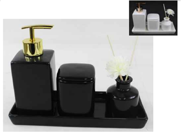Imagem de Jogo de Banheiro com Difusor - 4 Peças - Amigold