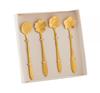 Imagem de Jogo de Colheres para Chá Flower Dourada - 4 Peças - Bon Gourmet