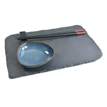Imagem de Jogo para Sushi em Ardósia - 3 Peças - Dynasty