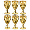 Imagem de Jogo de  Taças Diamond Douradas - 6 Peças - Lyor