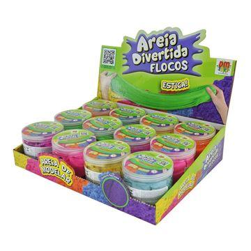 Imagem de Areia Divertida Flocos 400g - DM Toys