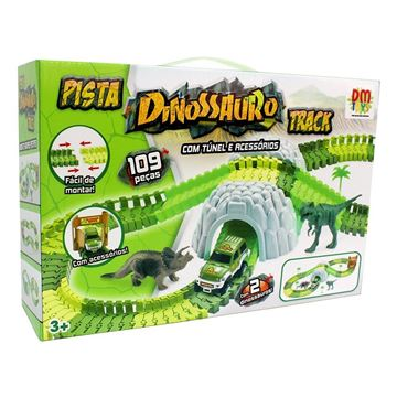 Imagem de Pista Dinossauro Track com Túnel 109 Peças - DM Toys