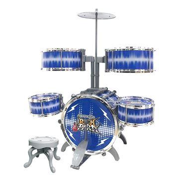 Imagem de Bateria Rock Party Grande Azul - DM Toys