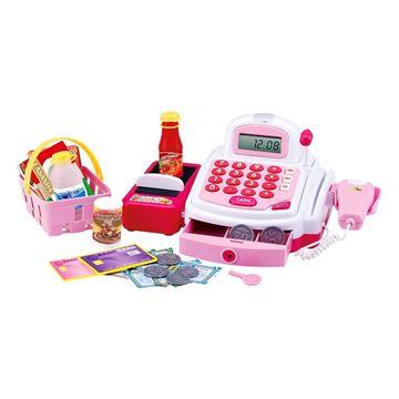 Imagem de Caixa Registradora Hora das Compras Rosa - DM Toys