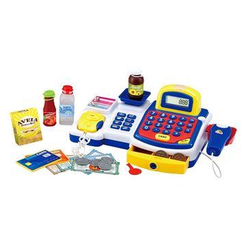 Imagem de Caixa Registradora Hora das Compras Azul - DM Toys