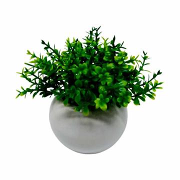 Imagem de Planta Artificial Mini Vaso Porcelana - 10cm