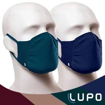 Imagem de Máscara Lupo - 2 Unidades - Verde e Azul Marinho