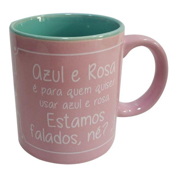 Imagem de Caneca Prosa Rosa e Azul 250ml - Dynasty