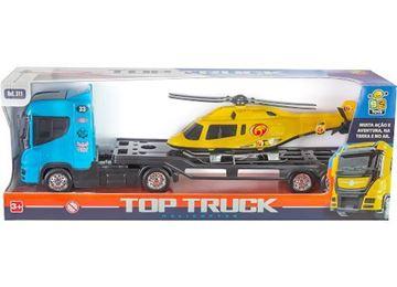 Imagem de Caminhão Top Truck com Helicóptero - BS Toys