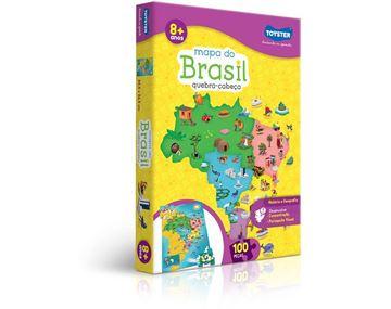 Imagem de Quebra Cabeça Mapa do Brasil - 100 peças - Toyster