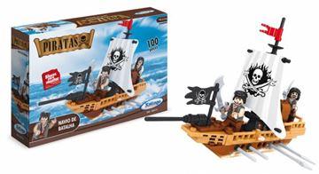 Imagem de Blocos de Montar - Navio de Batalhas Pirata 100 peças - Xalingo