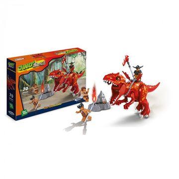 Imagem de Blocos de Montar - Dino Saga Rex Dominado 70 peças - Xalingo