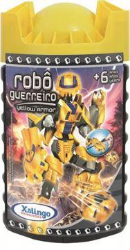 Imagem de Blocos de Montar - Robô Guerreiro Yellow 57 peças - Xalingo