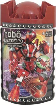Imagem de Blocos de Montar - Robô Guerreiro Red 59 peças - Xalingo