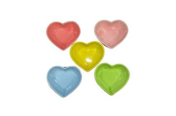 Imagem de Petisqueira Coração Mini - Cores Sortidas