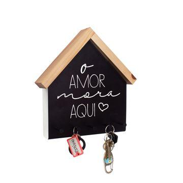 Imagem de Porta Chaves e Cartas O Amor Mora Aqui - Geguton