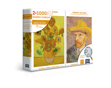Imagem de Quebra-Cabeça Van Gogh - Combo 2x 1000 Peças - Toyster
