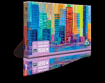 Imagem de Quebra-Cabeca Panorâmico Horizonte Colorido - 1500 Peças - Toyster