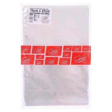 Imagem de Saco Incolor Liso 15x22cm - 50 Unidades - Gala Embalagens