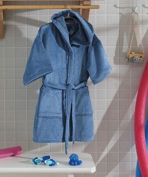 Imagem de Roupão Infantil com Capuz Tam M - Azul